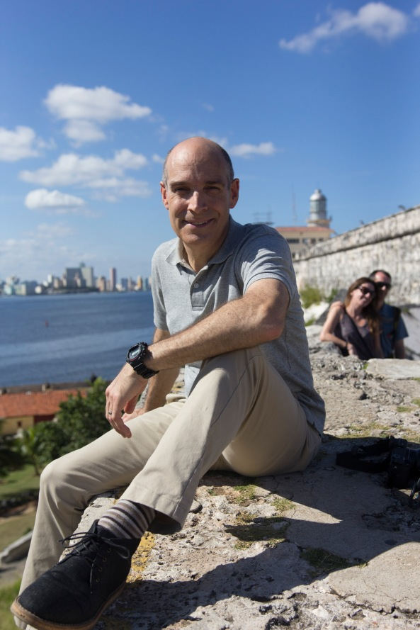 Weekend in Havana_Geoffrey Baer high above Havana Harbor_Photo WTTW and Brian Canelles.jpg