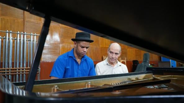 Weekend in HavanaRoberto Fonseca musician with Geoffrey BaerPhoto WTTW and Hugo Perez.jpg